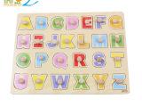 木质木制玩具 大写字母认知手抓板  儿童益智早教玩具  厂家直销