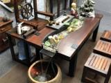 实木茶桌椅组合榆木仿红木功夫茶桌新中式办公室喝茶茶艺茶台茶几