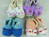 婴儿鞋 防滑保暖婴儿松紧带软底棉鞋婴童鞋子 柔飞婴儿用品
