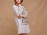 本质春季棉麻服饰原创品牌设计女式长款卫衣女款休闲外套女装1337