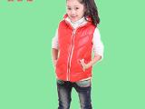 2015春秋款童装批发 时尚韩版女童加厚棉马甲 儿童棉背心外套