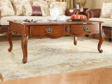 瑞福祥 美式家具茶几 欧美式沙发茶几雕花咖啡桌储物方几P-213