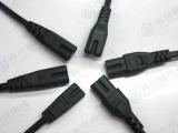 供应8字尾电源线  90度弯头8字尾  8字尾接头电源线