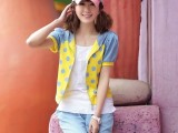 2014夏装新款短袖开衫套装 学生装时尚运动休闲三件套装韩版