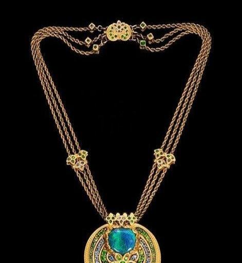 蒂芙尼(Tiffany & Co.)1837系列经典双环扣吊坠项链锁... -京东
