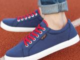批发新款韩版男士帆布鞋百搭休闲板鞋潮流透气鞋子英伦学生男鞋