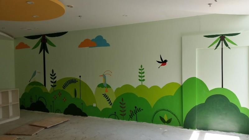 墙体彩绘手绘墙幼儿园墙绘涂鸦饭店手绘