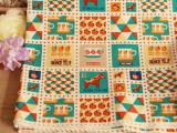 韩国订单 小马日单棉麻布料  桌垫手工窗帘diy布料