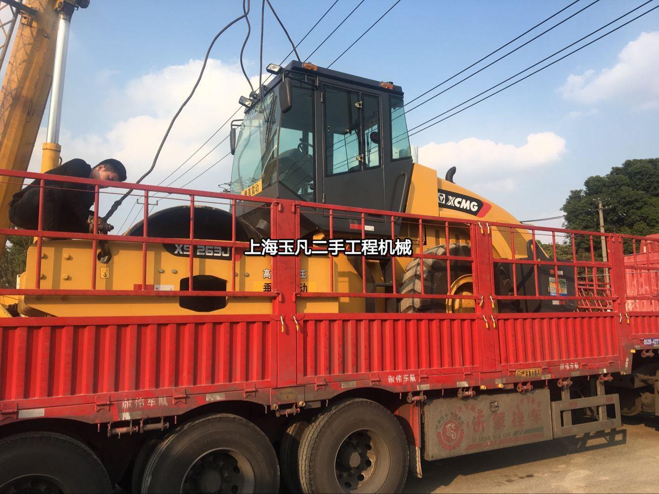上海二手压路机市场,22吨26吨大吨位二手振动压路机
