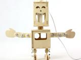 供应DIY双面小子机器人台灯 【调光型】 3D拼图玩具 [GK1