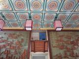 定制寺庙吊顶古建筑彩绘天花板金属斗拱