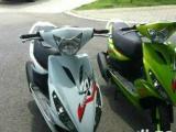二手摩托车市场长期出售各种各样男女装摩托车