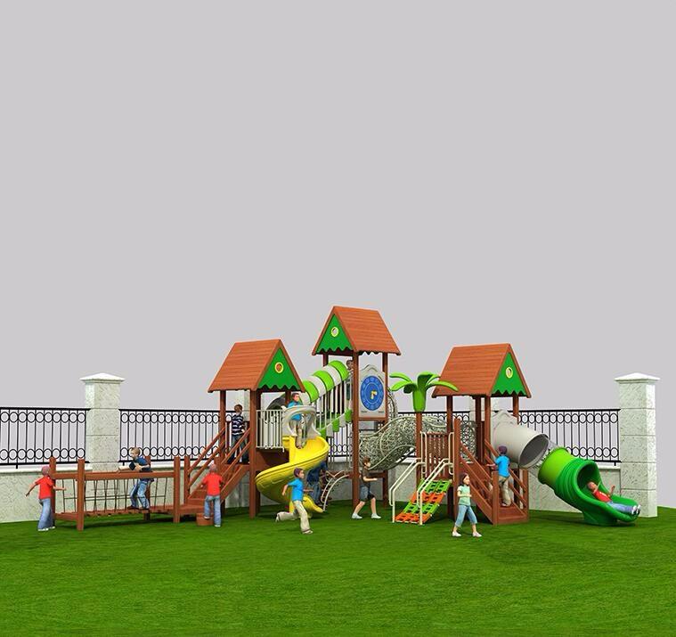 幼儿园滑梯,山东厚朴 大型小区户外木质爬滑梯多功能室外滑梯