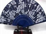 乌镇特产 古典 蓝印花布扇子 女式折扇 工艺扇子 咏春舞蹈 扇批