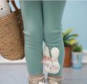广东产地 童装 2013秋季新款韩版全棉中小女童兔子打底裤童裤