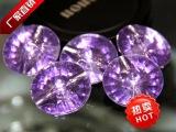 紫色软包水晶扣水晶钻纽扣沙发扣墙面装饰扣批发水钻扣彩色