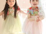 2014夏装韩女孩蓬蓬裙短袖连衣裙 品牌童装一件代发免费代理包邮