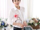 衬衫女长袖2015春装新款韩版女装白衬衣大码潮春秋打底衫女雪纺衫