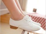 2013春鞋韩国小白鞋夏天单鞋 白色工作鞋牛津鞋少女中学生女鞋子