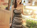 2014新款 韩版夏季女装修身性感夜店夏装连衣裙 紧身包臀短裙1