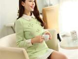 2014秋冬装新款新品韩版优雅女装套装长袖修身娃娃领连衣裙两件套