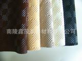 最新的装饰皮革pvc材料桌布餐垫桌面保护皮革面料环保压花出口中