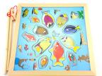 亲子互动磁性钓鱼 木制磁性立体钓鱼儿童玩具宝宝益智早教1-2岁