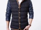 2014新款冬装韩版潮流时尚休闲立领保暖棉衣男士外套一件代发
