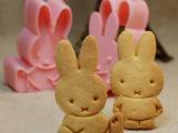 DIY立体饼干模具米菲兔2件套烘培工具蛋糕模具翻糖工具 2个装