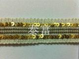 厂家特供 金色珠片亮片链条花边 窗帘链条花边批发