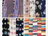 2015化纤雪纺服装面料 乱麻印花 卡通 条纹 碎花定位花布料批