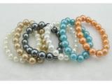仿珍珠手链 彩色珍珠手链 精品手链 时尚