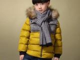 冬季棉袄女童棉衣儿童中大童加厚大毛领贴标中长款棉服