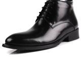 2013新款男士秋冬皮靴潮流商务正装男靴真皮尖头系带棉靴C129