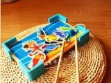 【韩国原单】儿童磁性木制小猫双杆钓鱼益智过家家宝宝钓鱼玩具