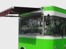 集成灶整体厨房宣传车电动展销车电动宣传车美食车小吃车厂家8800元