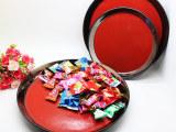时尚家居礼品  炻瓷圆盘红黑大中小号 果盘糕点盘圆盘托盘  3件