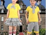 2014儿童校服 男女中大童校服订做 夏款短袖套装校服批发
