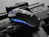 掌握者4D游戏光学鼠标 DPI可调 配重 镜面版鼠标