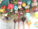45cm悬挂装饰圆形纸灯笼 幼儿园装饰儿童手工绘画