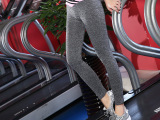 新款夏渐变段染女九分裤健身瑜伽跳操训练裤