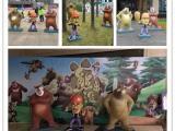 商业展览楼盘展会展销搭配展品吸引人气卡通主题展