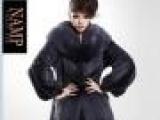 2013新丹麦进口母貂整貂水貂皮草长款披肩领长袖外套裘皮大衣