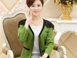 2014秋冬新款妈妈时尚韩版修身显瘦针织蕾丝普通款开衫外套