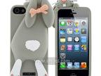 苹果4龅牙兔手机壳 硅胶趴趴兔子iphone5s卡通苹果手机壳厂家批发
