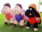 45CM毛绒羊公仔羊年吉祥物爱心羊毛绒玩具生肖羊礼品厂家专业定做