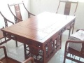 全新非洲花梨木实木茶桌,五把椅子,自动烧...