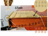 山西楼梯防滑铜条太原水磨石铜条大同黄铜型材加工磨石塑料分格条