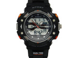 速卖通时尚夜光双显手表 男士表防水电子学生多功能运动表跑表