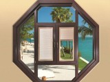 西安南沐隔音门窗-125系列断桥窗纱一体平开窗